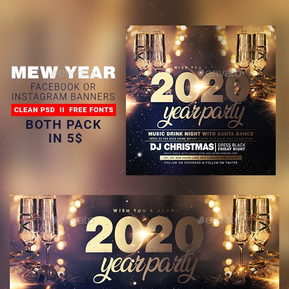 New Year Instagram Banner & Facebook Cover