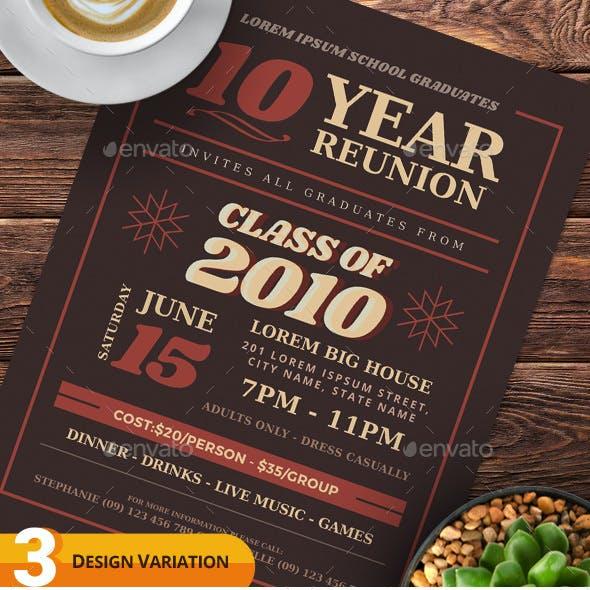Class Reunion Flyer Templates