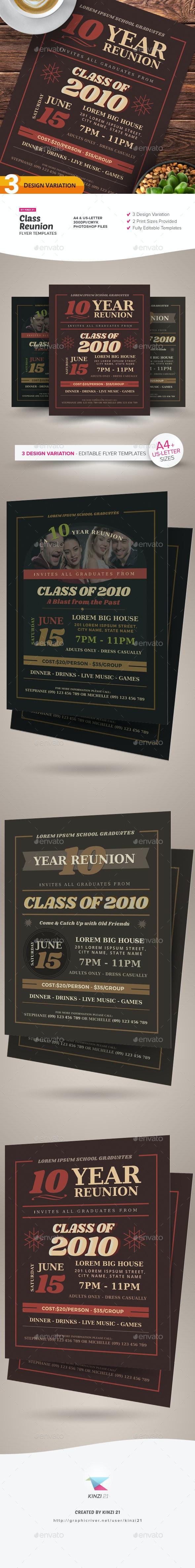 Class Reunion Flyer Templates - Miscellaneous Events