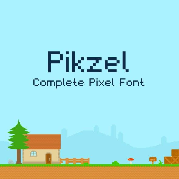 Pikzel | Complete Pixel Art Font