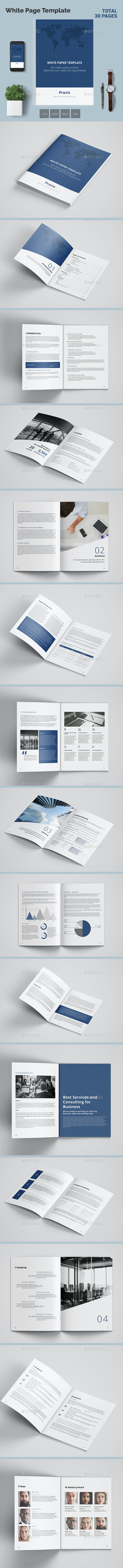 White Paper 30 Pages - Corporate Business Cards