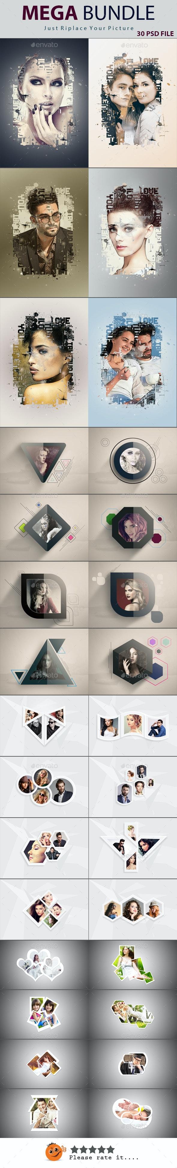 Mega Bundle - Photo Templates Graphics