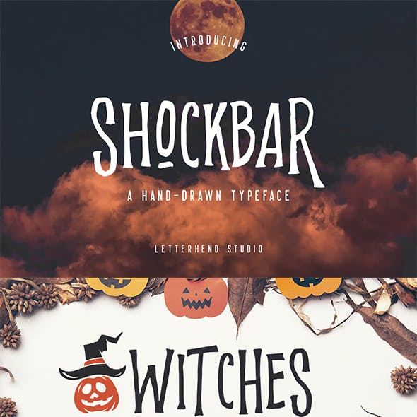 Shockbar - Hand Drawn Typeface