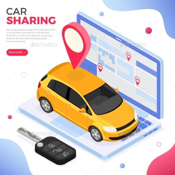 Car Sharing Service Concept