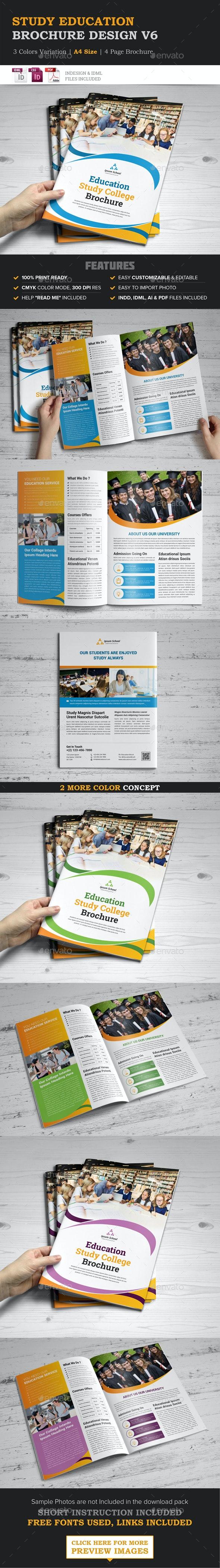 Education Brochure Indesign Template - Brochures Print Templates