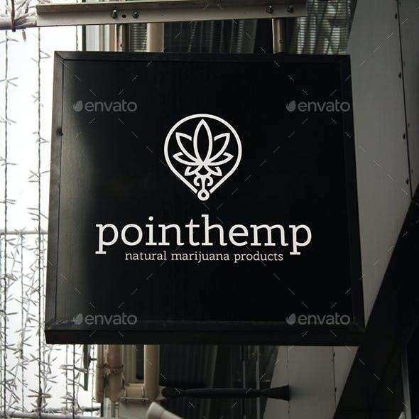 Cannabis Hemp Point Locator Logo