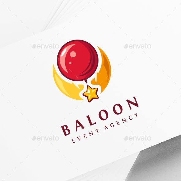 Balloon Party Logo Template