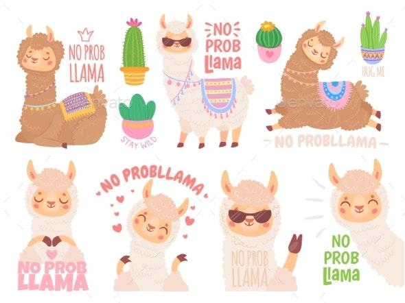No Prob Llama. Cool Llamas Have No Problems - Animals Characters