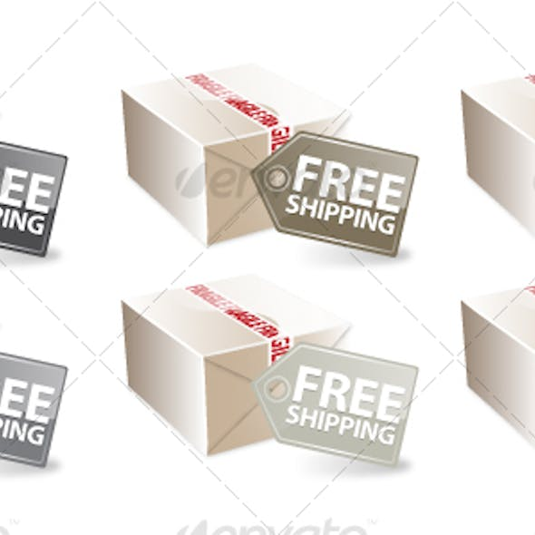 Free Shipping Icon Set (Neutral Colors)