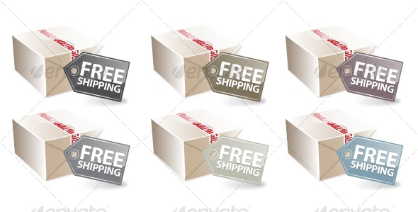 Free Shipping Icon Set (Neutral Colors) - Business Conceptual