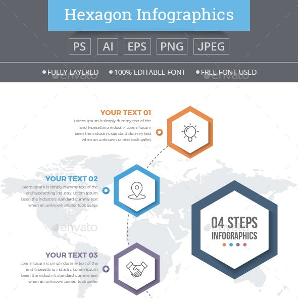 Infographics Template with 04 Steps