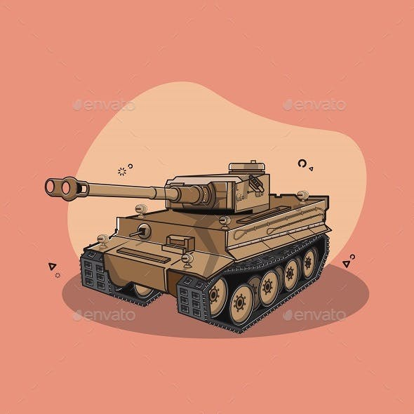 Panzer Tank Vector Illustration