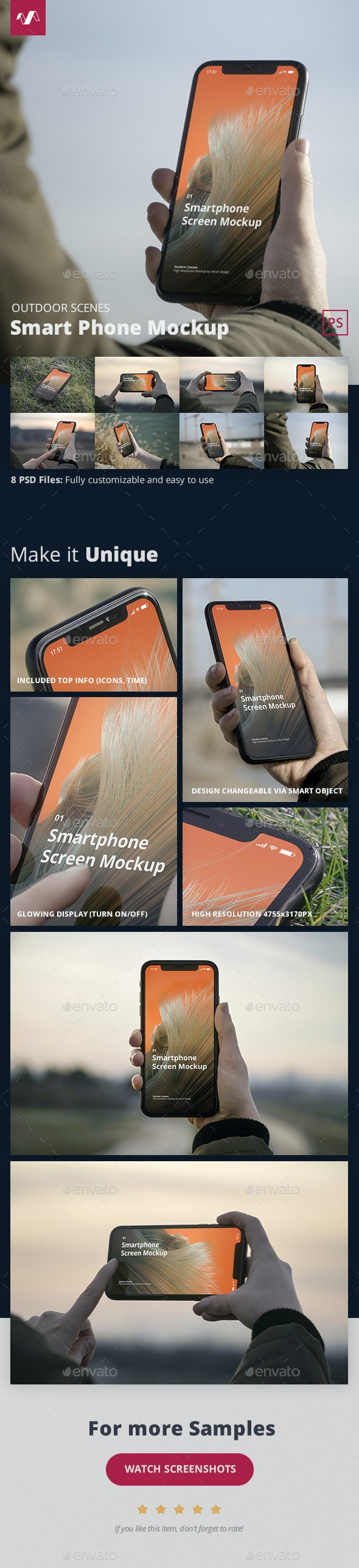 Phone Mockup Outdoor Scenes - Mobile Displays