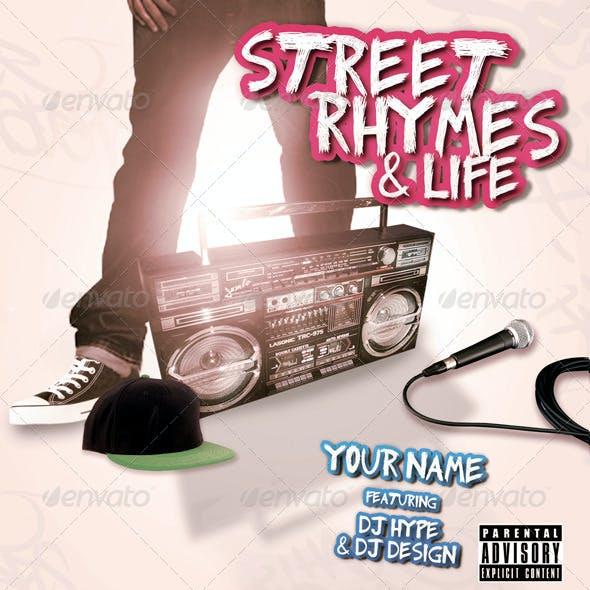 Street Rhymes & Life Mixtape CD Flyer Template