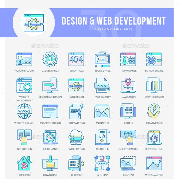 WEB Development Icons
