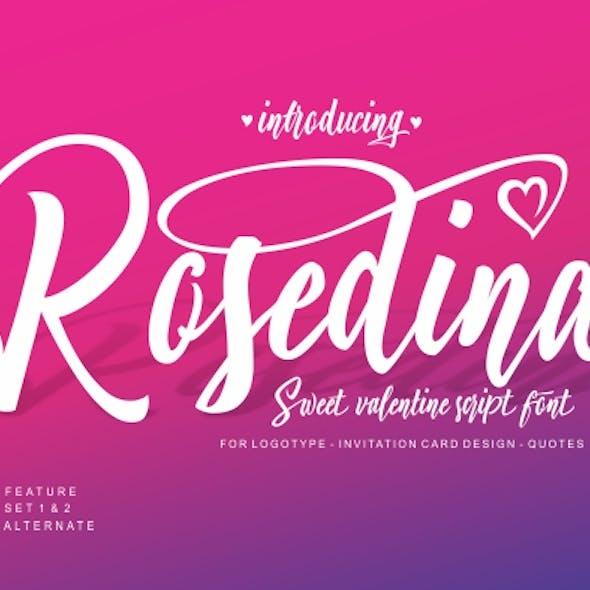 Rosedina Sweet script font