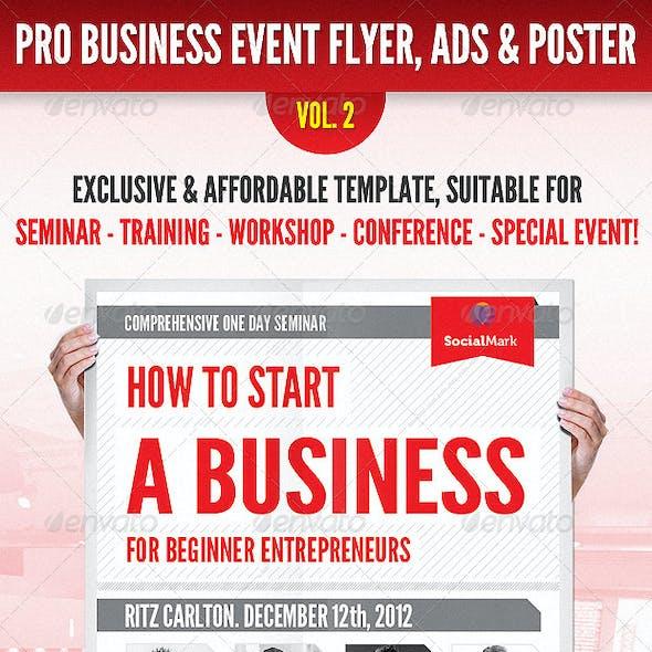 Business Event Flyer, Advertisement & Poster Vol.2