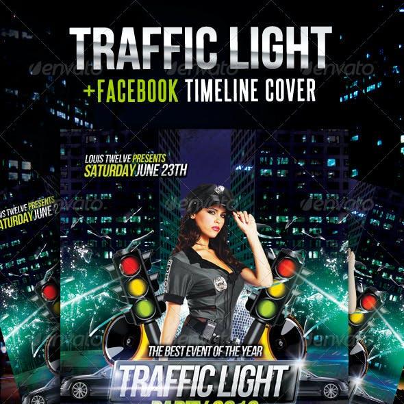 Traffic Light Party Flyer + Facebook Timeline
