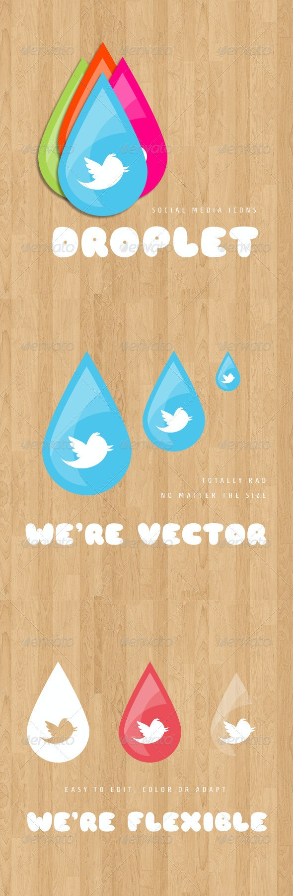 Droplet Social Media Icons - Web Icons