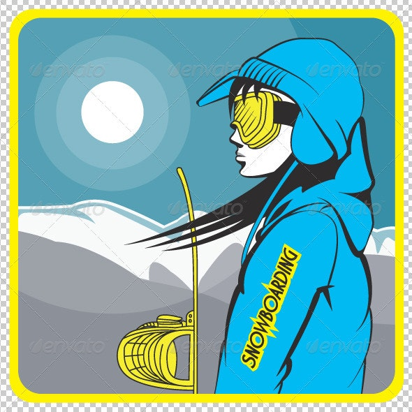 Girl Snowboarder - People Characters