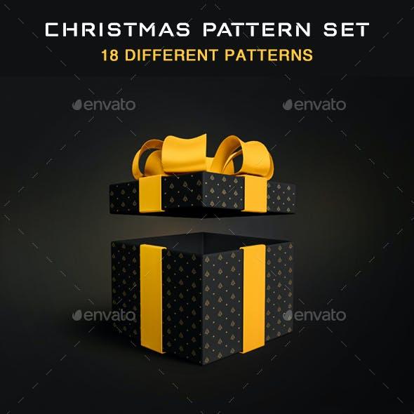 Seamless pattern set for Christmas