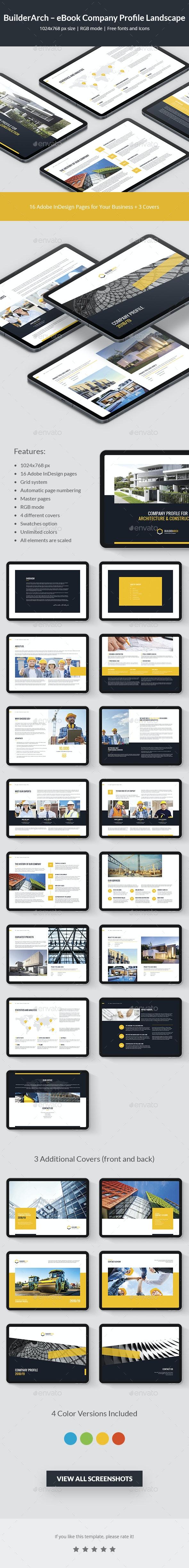 BuilderArch – eBook Company Profile Landscape - Digital Books ePublishing