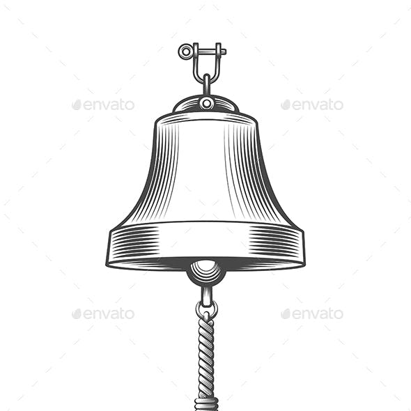 Ship Bell  in Engraving Style