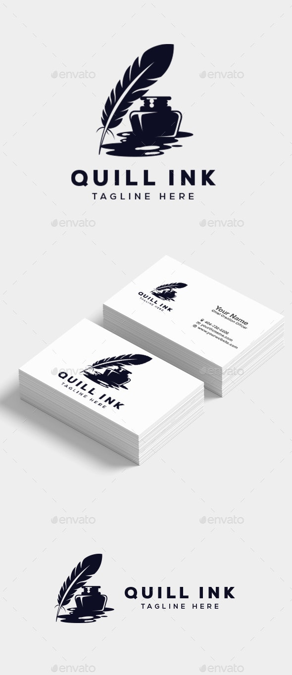 Quill Ink Logo - Objects Logo Templates