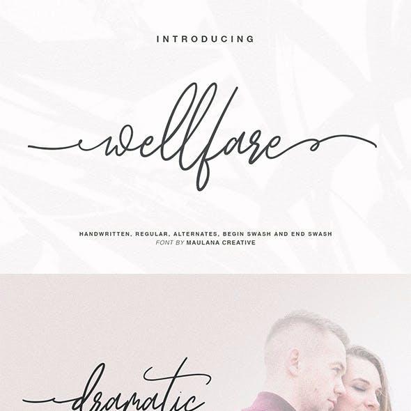Wellfare - Handwritten Swash Font
