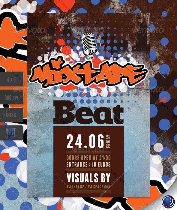 Urban Grunge Hip-hop Flyer Template - Clubs & Parties Events