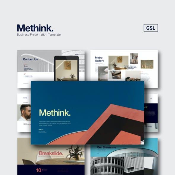 Methink Clean Minimalist Google Slides Template