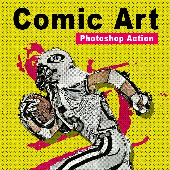 Comic Art Photoshop Action