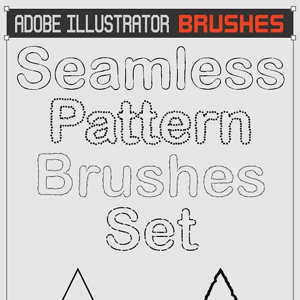 Seamless 32 Ink Sketch Outline Brushes