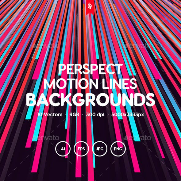 Perspect - Perspective Motion Lines Backgrounds