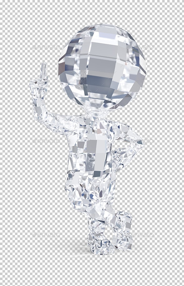 3D Small People - Diamond Man - Characters 3D Renders