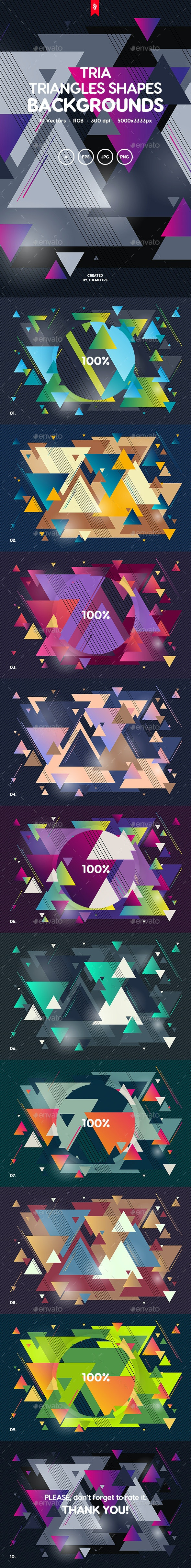 Tria -Triangles Shapes Backgrounds - Abstract Backgrounds