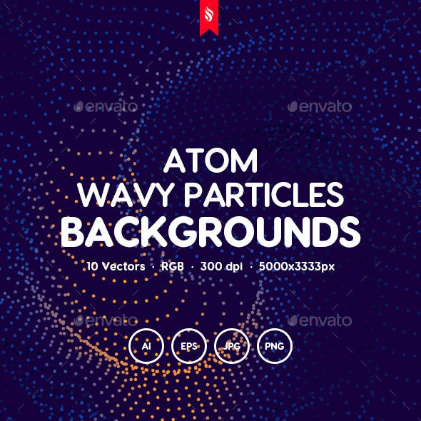 Atom - Defocused Wavy Particles Background Set