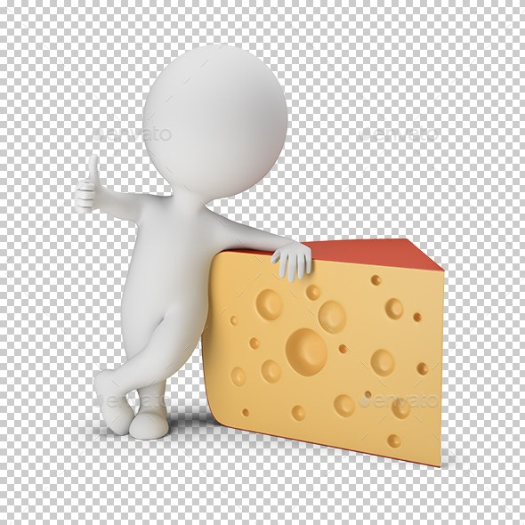 3D Small People - Cheese - Characters 3D Renders