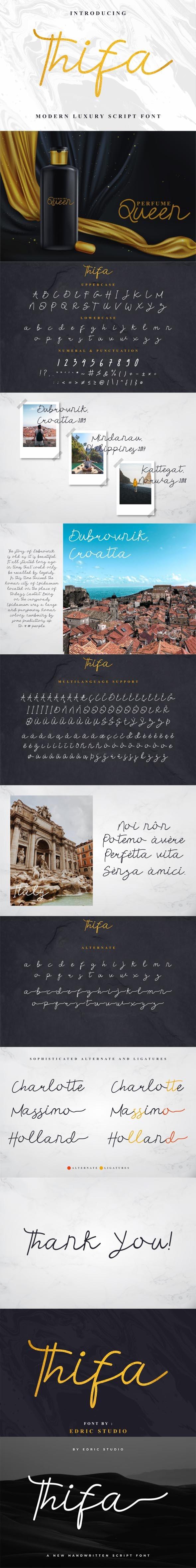 Thifa Font - Handwriting Fonts