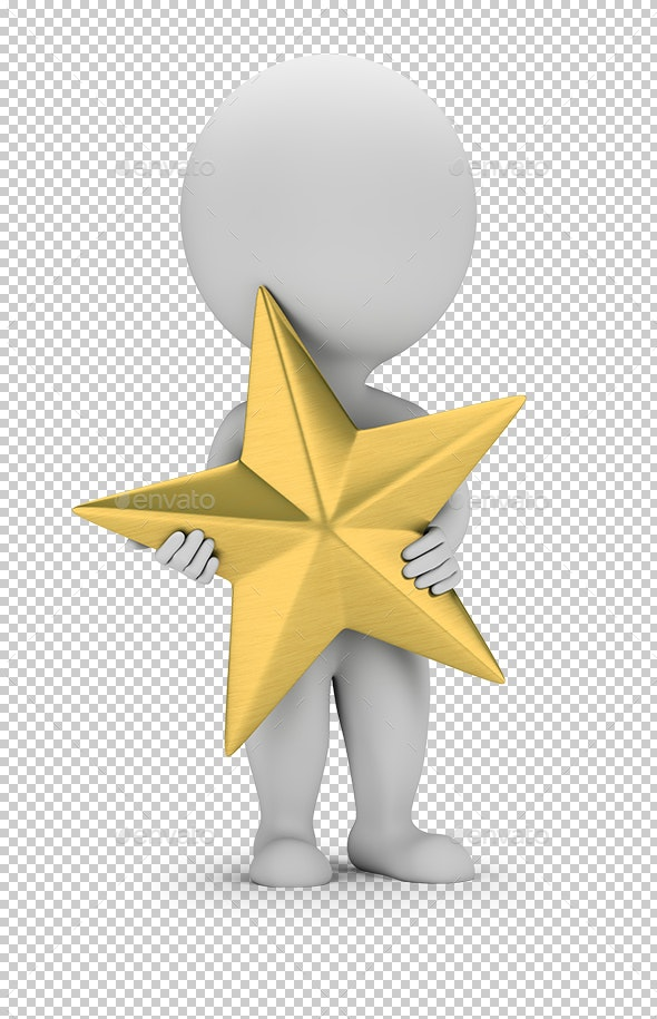 3D Small People - Golden Star - Characters 3D Renders