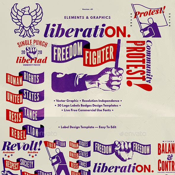 Liberation Element Graphic Set