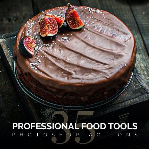 35 Food Tools Photoshop Actions