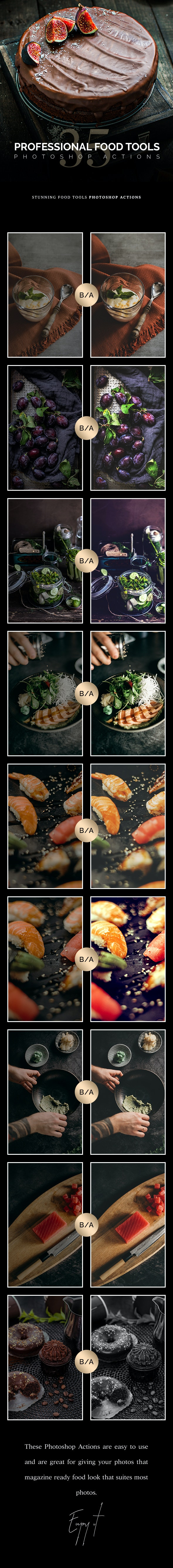 35 Food Tools Photoshop Actions - Photo Effects Actions