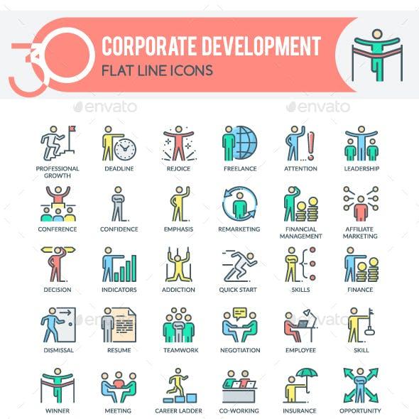 Corporate Development Icons