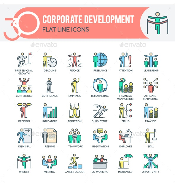 Corporate Development Icons - Business Icons