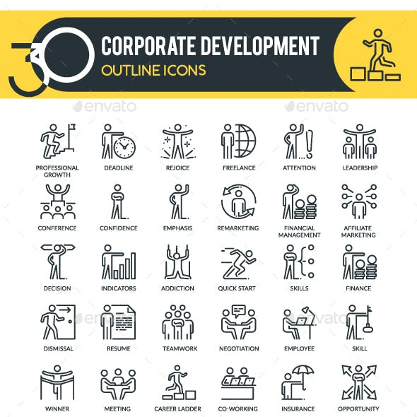 Corporate Development Icons