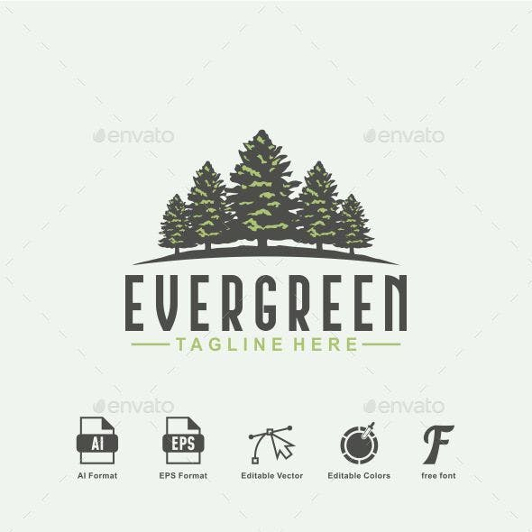 Evergreen Logo - Tree Logo