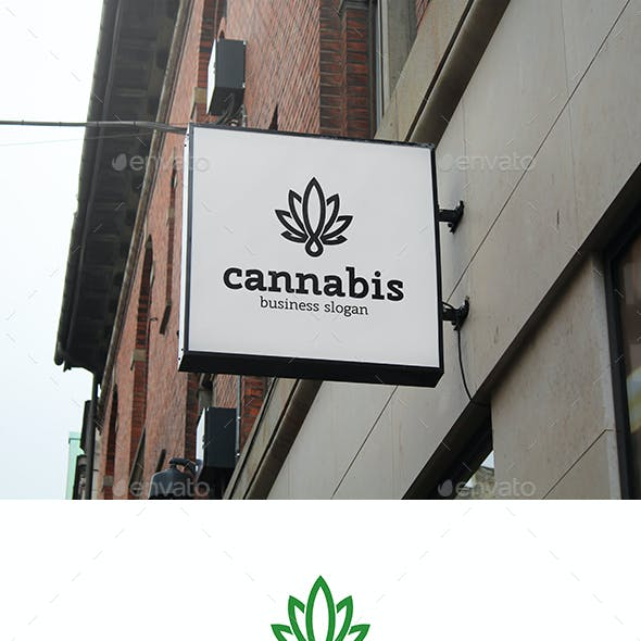 Cannabis Leaf Logo Template