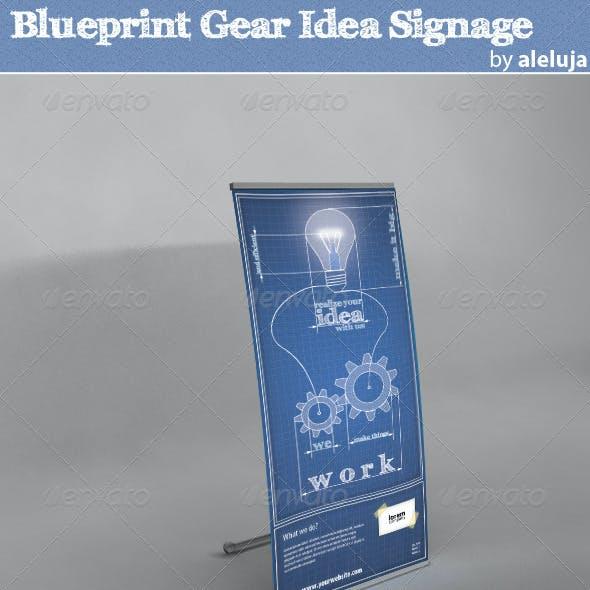 Blueprint Gear Idea Signage
