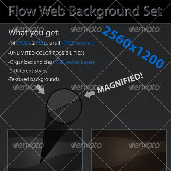 Flow Web Background Set